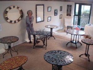 Judith in the exhibition space